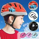 Physionics Kinderhelm für Jungen und Mädchen | Kopfumfang: ca. 52-56 cm, inkl. Einstellrad zur Anpassung, Schlagfest | Fahrradhelm, Kinderfahrradhelm, Fahrrad Radhelm, Helm Bike (Racer)