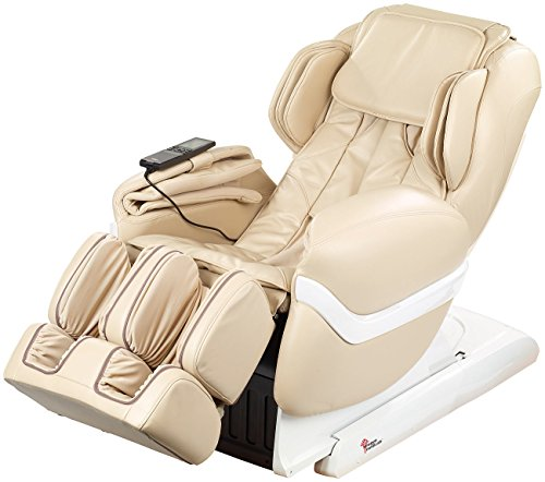 Newgen Medicals Relaxsessel: Luxus-Ganzkörper-Massagesessel GMS-150 mit Infrarot-Wärme, beige (Kunstleder-Massagesessel)