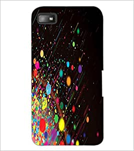 PrintDhaba Colour Blast D-2024 Back Case Cover for BLACKBERRY Z10 (Multi-Coloured)