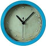 GAOHL Metal hierro reloj despertador vintage 3D madera relojes de mesa , blue