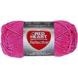 Coats Garn, Rot Herz Reflektierende yarn-neon Pink, andere, mehrfarbig