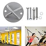 Supporto da parete in Suspension Trainer, Heavy Duty Anchor staffa per crossfit anelli da ginnastica yoga Swing amaca sacco da boxe & Battle corde bande di resistenza cinghie di sospensione (2 pcs)