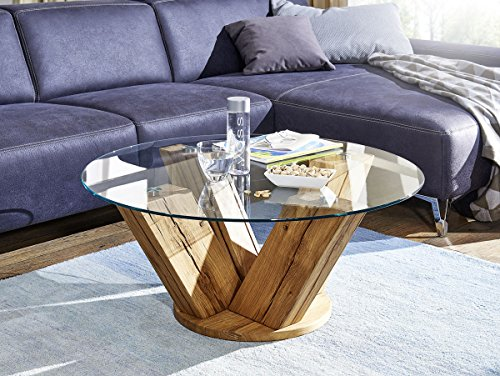 moebel-eins Boston Couchtisch Wohnzimmertisch Tisch Holztisch Sofatisch Beistelltisch Kaffeetisch Wildeiche lackiert, Wildeiche lackiert