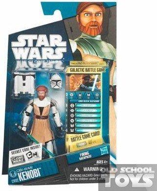 Star Wars - 98352 - The Clone Wars - Galactic Battle Game - Action Figur - CW02 - Obi-Wan Kenobi (ca. 10 cm / 3 3/4