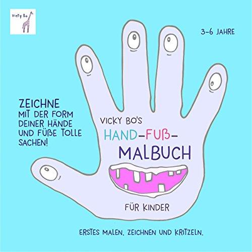 Hand-Fuß-Malbuch ab 3 Jahre (Mann Mit Kamel)