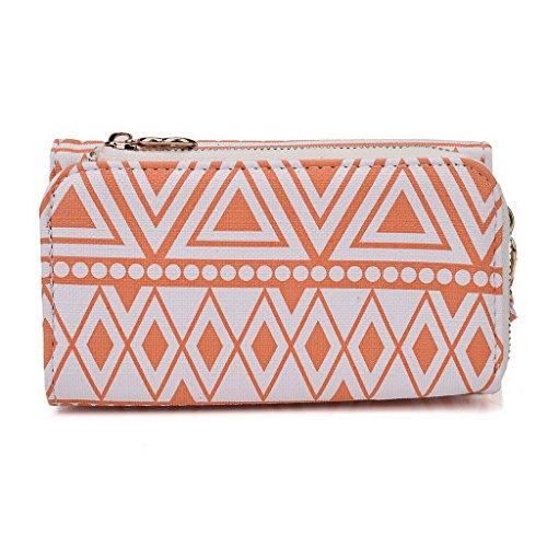 Kroo Pochette/étui style tribal urbain pour Lenovo A850 Multicolore - Noir/blanc Multicolore - White and Orange