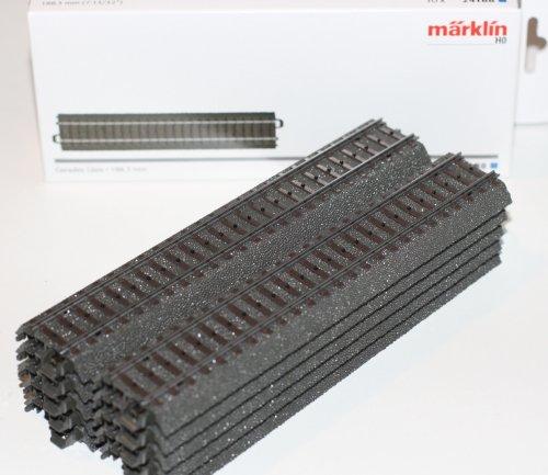 51mqJyR97vL - Märklin H0 10 gerade C-Gleise 24188 Länge 188,3 mm