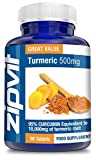 Turmeric Curcumin Tablets - High Strength 475mg Curcuminoids For Joint Pain Relief & Arthritis | 10,000mg Turmeric Equivalent | 90 Vegetarian Tablets by Zipvit