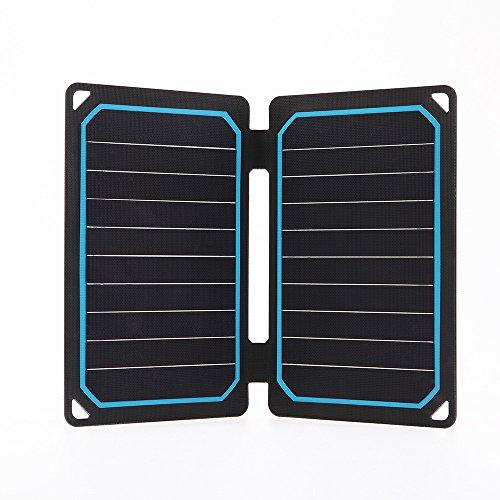 Renogy 12V Solarmodul 10W Solarpanel Solarzelle Monokristallin Photovoltaik Solarmodul tragbar für Camping,Klettern,USB-Ausgang