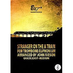 Filmposter Stranger auf einem Zug für Posaune/Euphonium Notenschlüssel