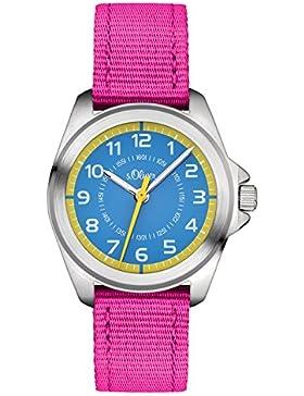 s.Oliver Unisex-Armbanduhr Analog Quarz Textil SO-3227-LQ