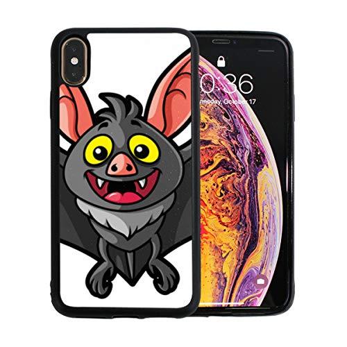 WYYWCY Night Terror Bat Animal Carton Apple Telefon Xs Max Case Screen Protector TPU Hard Cover mit dünnem stoßfestem Stoßfänger Schutzhülle für Apple Phone Xs Max 6,5 Zoll