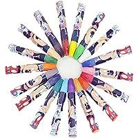 Juego de rotuladores de graffiti, punta flexible, pincel, rotuladores para colorear para adultos y niños, libros para colorear, dibujar, caligrafía, escritura y más, no tóxico 18 Color