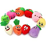 SODIAL(R) Family Finger Puppets Play Game Learn Baby Educational Hand Toy Theme:Fruit And Vegetable