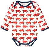 loud + proud Unisex Baby Body lang mit Druck, aus Bio Baumwolle, GOTS zertiziziert, Rot (Cayenne Cay), 92 (Herstellergröße: 86/92)