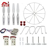 Generic Yellow : SYMA X5UW X5UC RC Drone Parts Battery Propeller Blades Protective Ring Frame Tripod Landing Gear Main Motor Gear Accessories
