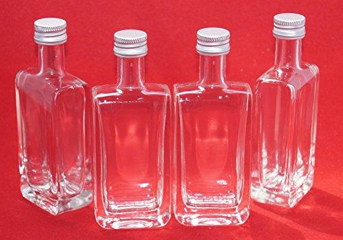 24 Leere GLASFLASCHEN 50 ml (Vicky lang) kleine Mini Flaschen Miniatur Schnapsflaschen Vick-SCHRAUB 5 cl Nr 40ML slkfactory -