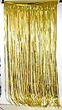 Cortina de papel para fiestas festivales cumpleaños decoración de hogar escuela hotel (Oro)