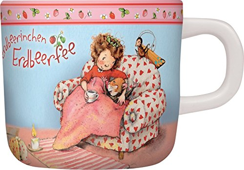 Preisvergleich Produktbild Melamintasse Erdbeerinchen: Erdbeerinchen Erdbeerfee. Farbig bedruckt