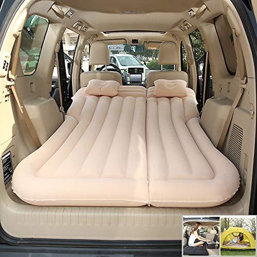 ZQQ Aufblasbares Bett Der Autoreise, Aufblasbares Luftbett-Luftkissen des Faltenden Autocampingbodens Mit 6 Unabhängigen Airbags,beige (Airbag-kit Für Auto)