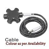 #10: nisun 3.5mm 5 way jack stereo audio headset headphone earphone hub splitter connector adapter – Colour may Vary