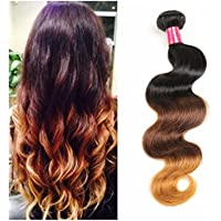 Lolly capelli 7 a ombre Brazilian Virgin T1B/4/27 Body Wave 3 ciocche di capelli biondo miele colore Brazilian Hair Weave