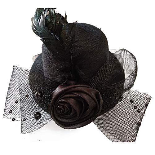 Elegante Mini Klein Zylinderhut Haarnadel für Mädchen-Blumen-Haar-Dekor Frauen Kinder Haarschmuck