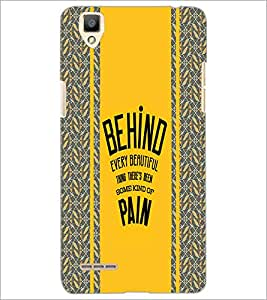 PrintDhaba Quote D-3838 Back Case Cover for OPPO F1 (Multi-Coloured)