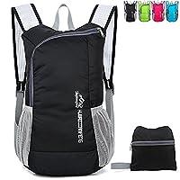 Lightweight Foldable Rucksack Outdoor Packable Backpack Ultralight Waterproof Sport Bag Travelling Climbing Hiking Cycling Rucksack Daypack- 18L (1704black)