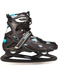 Nijdam Pro-Line - Patines para hockey sobre hielo (para adulto) schwarz anthrazit smaragd Talla:46
