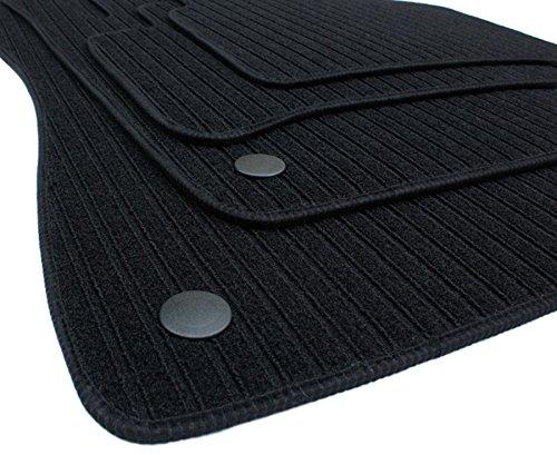 kfzpremiumteile24 Fußmatten / Velours RIPS Automatten Original Qualität Stoffmatten 4-teilig schwarz