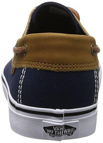 Vans MN Chauffeur SF, Baskets Basses Homme Bleu (C And L Dress Blues/white)