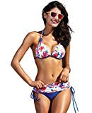 Arjen Kroos Sexy Bikini Donna Push Up Costumi da Bagno Women Floral Costume da Bagno Flower Beachwear