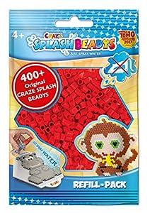 CRAZE fusibles Fuse Beads Splash BEADYS Juego de Recambio Cuentas de Agua Paquete de Recarga Rojo 11638, Color