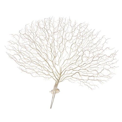 Sharplace Künstliche Koralle Zweige Kunstpflanze Kunstblume Kunstzweige Wie Pfau, Schöne Blumendeko für Haus Büro - Weiß