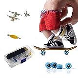 Mini Fingerboard pour Enfants Professionnel Bois Mini Fingerboard Assemblée Doigt Planche À Roulettes avec PU Pad et Base Roues Jouet Sport Jeux Cadeau
