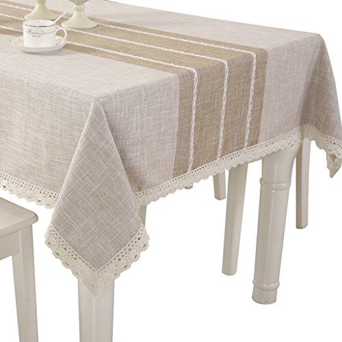 Nappes coton lin rectangulaire table basse tissu carré table peau naturelle style minimaliste moderne (Size : 110 * 170cm)