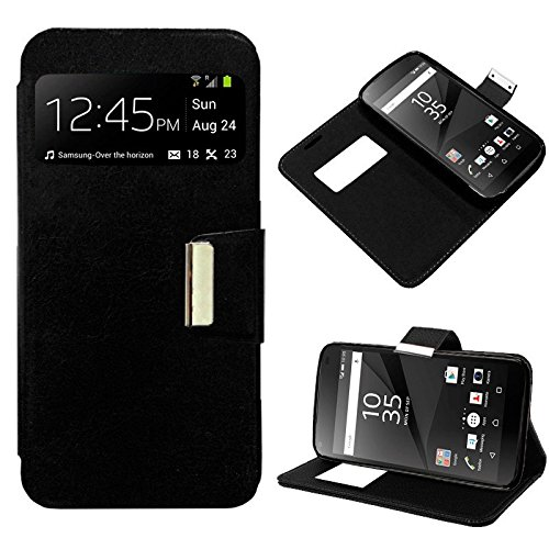 PHONELAND Funda Flip Cover Sony Xperia Z5 Premium Liso Negro
