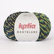Katia Montblanc - Gomitolo di lana 070, colore: verde screziato, 100 g