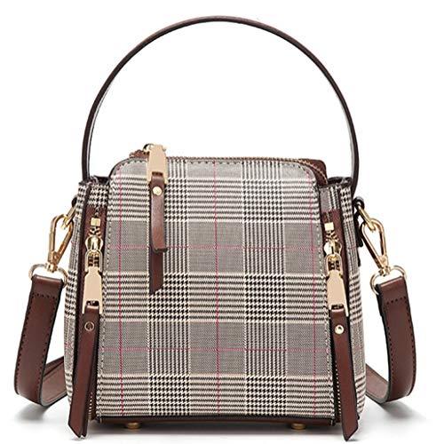 Echtes italienisches weiches genarbtes Leder Cross Body Schulter Slouch Bag Handtasche mit Baumwolle wie Futter mittlerer Größe für Versammlungen geeignet usw. (braun)