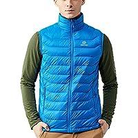 Tectop Men's Outdoor Packable Lightweight Puffer Down Vest