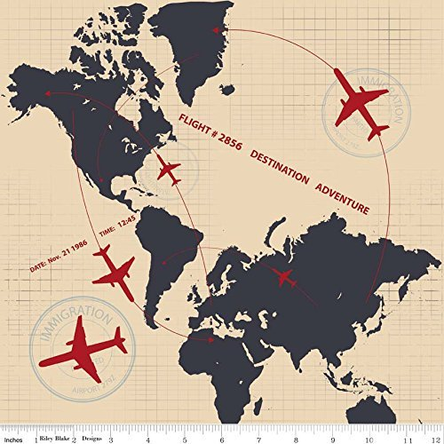 fat-quarter-detour-plane-flight-path-crema-cotone-quilting-tessuto-world-atlas