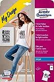 Avery Zweckform Paquet de 24 feuilles A4 de transferts pour t-shirt à textile clair (Import Allemagne)