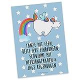 Mr. & Mrs. Panda Postkarte Einhorn Pegasus - Einhorn, Unicorn, Regenbogen, Spielen, Realität, Glitzer, Erwachsenwerden, Einhornliebe Postkarte, Geschenkkarte, Grußkarte, Karte, Einladung, Ansichtskarte, Sprüche