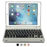 Apple iPad Air 2 / Pro 9.7 Etui clavier, [NOUVEAU] COOPER KAI SKEL Q0 Coque clapet et clavier Bluetooth sans fil comme ordinateur Macbook, 14 touches raccourcis pour Apple iPad Air 2 / Pro 9.7 (Argent)