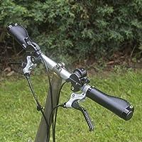 Mango ergonómico para Brompton Bicicleta Plegable Eco Piel aluminio bloqueo Negro