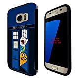 248 - Doctor Who Adventure Time Design Samsung Galaxy S7 G930 Full Body Hülle Build in Screen Schutzhülle Schutzcase Rubber Defender komplett Hülle Vorder-und Rück