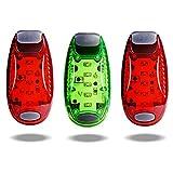 TBoonor LED Sicherheitslicht Clip auf LED Blinklicht Running Lichter für Läufer, Jogger, Wanderer, K (2 Rot 1 Grün)