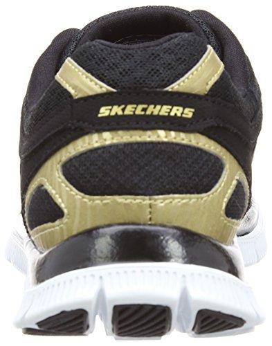 Skechers Flex AppealLove Your Style, Chaussons Sneaker Femme Noir (Bkgd)