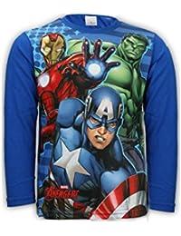 Boys Avengers Capt America Hulk Ironman Print Long Sleeve Top 4 to 12 Years